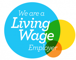 We're a living wage employer (London Living Wage logo)